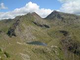 Via Normale Cima di Lusia - Gronton, Valle dei Laghi e e Cima Bocche dalla Forcella del Lago.