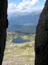 Via Normale Cavallazza Piccola - Scorcio sul Lago della Cavallazza.