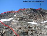 Via Normale Cima di Caspoggio - Dove si abbandona il sentiero segnalato e si traversa a S