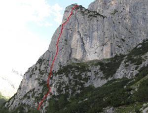 Via Normale Dente del Rifugio - Fessura Franceschini