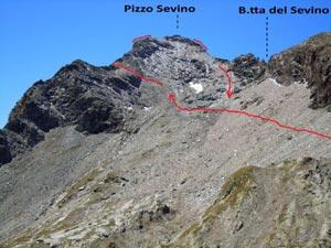 Via Normale Pizzo Sevino - cresta E