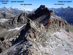 Via Normale Pizzo Quadro - cresta SSW