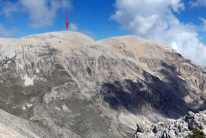 Via Normale Monte Acquaviva - Anticima W