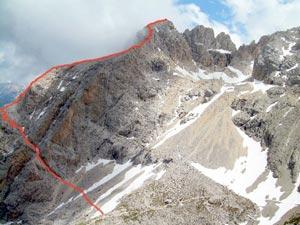 Via Normale Corno Grande - Vetta Orientale - Via Ricci