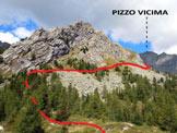 Via Normale Pizzo Vicima - La prima parte dell�itinerario, da poco sopra la partenza