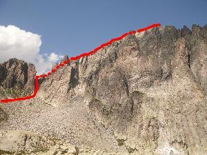 Via Normale Cima d´Asta - Canalone S e cresta W