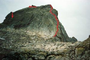 Via Normale Punta della Sfinge