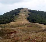 Via Normale Monte Marrone - L�evidente tratto di salita da q. 1740 m alla cima