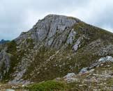 Via Normale Monte Ferruccia - La cima vista dalla cresta N