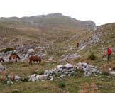 Via Normale Monte Mare - L´attacco del canale che conduce in cresta