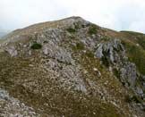 Via Normale Monte Mare - La cima vista dal M. Ferruccia