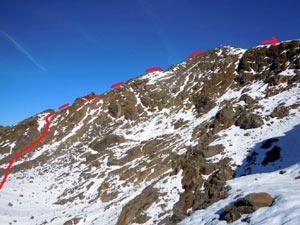 Via Normale Monte Confinale - Cresta SW