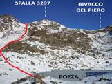 Via Normale Monte Confinale - Cresta SW - Dove si abbandona il sentiero per il Bivacco Del Piero