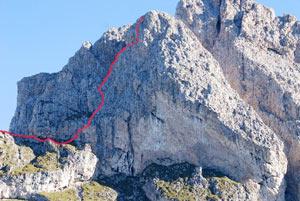 Via Normale Piccola Fermeda - Via dei Camini
