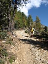 Via Normale Salzla - Monte di Tesido - Salendo verso il Salzla