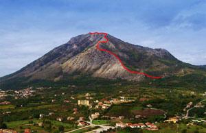 Via Normale Monte Taburno (cresta SE)