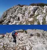 Via Normale Monte Taburno (cresta SE) - Passaggi su roccette