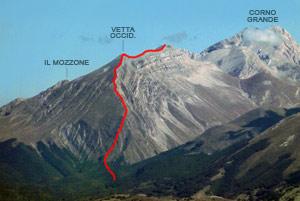 Via Normale Monte Corvo (cresta W)