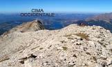 Via Normale Monte Corvo (cresta W) - Panorama sul Lago di Campotosto