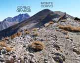 Via Normale Monte Corvo - Vetta Occidentale (cresta W) - Veduta a E dalla cima