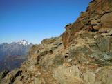 Via Normale Monte Spondascia - Sulla cengia sotto la vetta