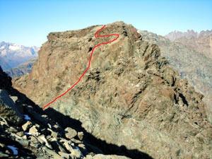 Via Normale Monte Spondascia - cresta ESE