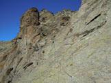 Via Normale Monte Spondascia - cresta ESE - Tratti attrezzati sotto la cresta ESE