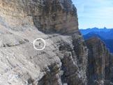 Via Normale Monte Pelmo (cengia di Grohmann) - Lungo la cengia Grohmann