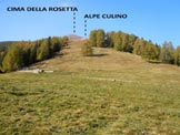 Via Normale Cima della Rosetta - Immagine ripresa alla partenza, dal Rifugio Bar Bianco
