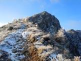 Via Normale Cima della Rosetta - La vetta dal sentiero della cresta NE