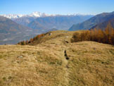 Via Normale Monte Olano - La piana ripresa da SW
