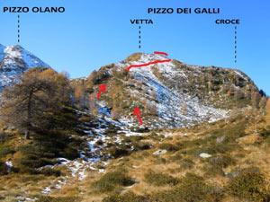 Via Normale Pizzo dei Galli - versante E