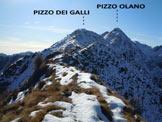 Via Normale Pizzo dei Galli - versante E - Immagine ripresa dall'anticima N