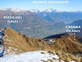 Via Normale Pizzo Olano - La pianura della Valtellina e il panorama, dalla vetta
