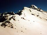 Via Normale Cima Orientale dei Forni - La cresta SSE in veste primaverile