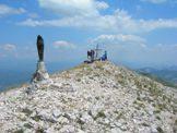Via Normale Monte di Cambio (da N) - La statua della Madonna sul Monte di Cambio