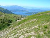 Via Normale Cima della Laghetta - Anticima S (da W) - Il Lago di Campotosto visto dalla cima