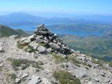 Via Normale Cima della Laghetta (da W) - Vista del Lago di Campotosto dalla cima