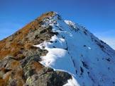 Via Normale Monte Combana - Cresta E - Sulla cresta est