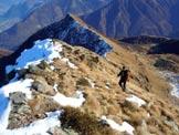 Via Normale Monte Combana - Cresta E - In discesa sulla cresta est