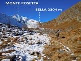 Via Normale Monte Rosetta - Immagine ripresa dall'itinerario di salita, da ENE