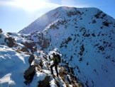 Via Normale Monte Rosetta - Sulla cresta nord