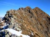 Via Normale Monte Combana - All'inizio della cresta SW