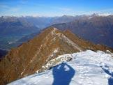Via Normale Monte Combana - Il Pizzo Olano e a destra il Pizzo dei Galli dalla vetta