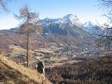Via Normale Cianderou - Dalla cima verso il Sorapis