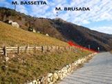 Via Normale Monte Bassetta - I Prati dell'O, dove si abbandona la stradina