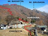 Via Normale Monte Bassetta - Cresta SW - Immagine ripresa dall'Alpe La Piazza