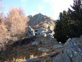 Via Normale Monte Brusada - All'inizio della cresta SW