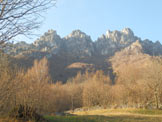 Via Normale Monte Cancervo - La bastionata vista da Pianca
