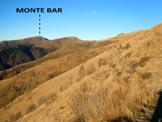 Via Normale Monte Bar - Il M. Bar dal versante W della cresta SSE del M. Garzirola